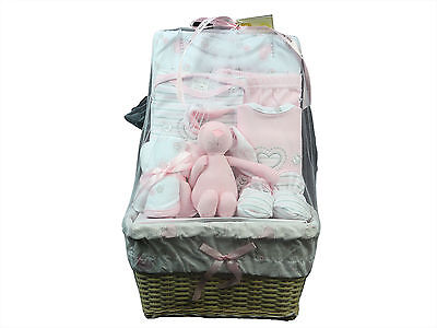 Bee Bo Newborn Infant Baby Newborn Embroidered Boy Girl Gift Basket 9 Piece Set