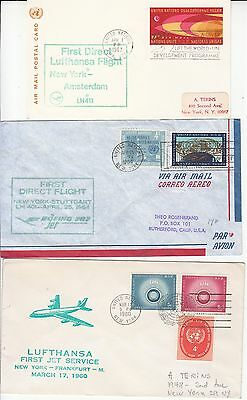 Lufthansa 3 First Flights from New York 1960 - 1967