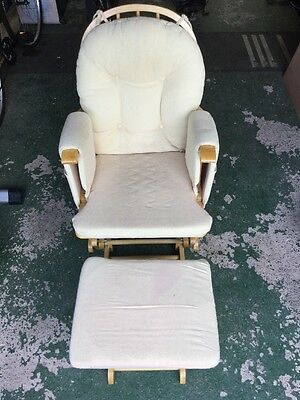 Baby Nursing Rocking Chair With Footstool Ex Cond