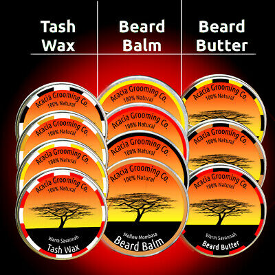 Natural Beard Balm, Butter, Tash, With Jojoba Oil, Organic, Growth, Styling