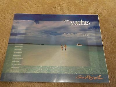 2001 Searay Sport Yachts Marketing / Specifications Brochure 38-48'  78 Pages