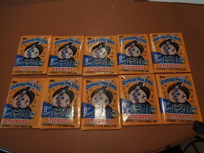1987 Garbage Pail Kids GPK  10 unopened packs original series 9 priced 25c
