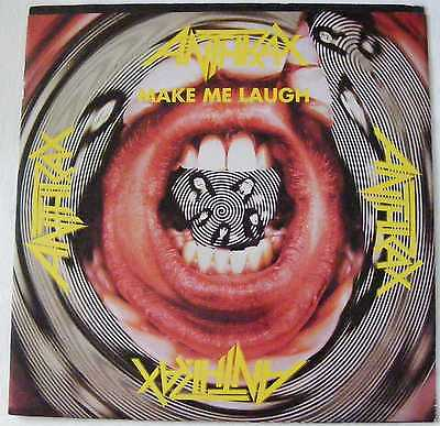"ANTHRAX 1988 12"" Single with POSTER  MAKE ME LAUGH"
