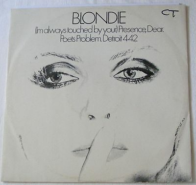 """BLONDIE UK 1978 12"""" Single I'm always touched by your PRESENCE DEAR top opening"""