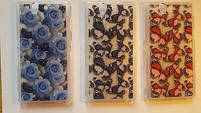 Butterfly, Roses phone case, cover to fit Sony Xperia Z C6602 C6603 - clearance