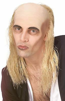 Blonde Hair With Bald Top Wig Rocky Horror Show Riff Raff Halloween Fancy Dress