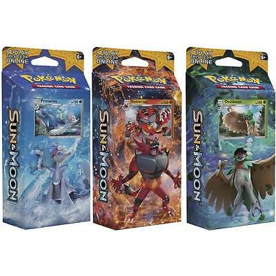 Pokemon Sun & Moon Theme Deck Bundle of 3 (Decidueye, Incineroar, & Primarina)