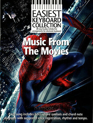 Music from The Movies Easiest Keyboard Collection Easy Sheet Music Book Films