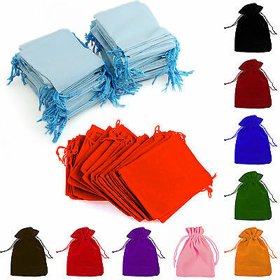 "10pcs Small 2.7""x3.5"" Velvet Bags Jewelry Wedding Party Gift, Drawstring Pouches"