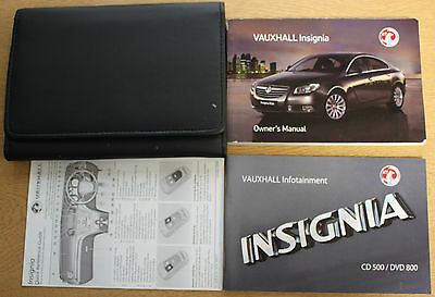 Vauxhall Insignia Owners Manual Handbook Wallet Infotain 2008-2013 Pack 13320