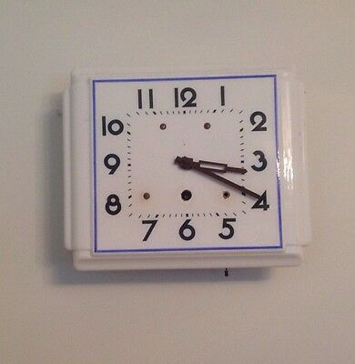 """Antique Vintage Ceramic Wall Clock A Frame Movement 10x8"""" Worked But Stopped"""