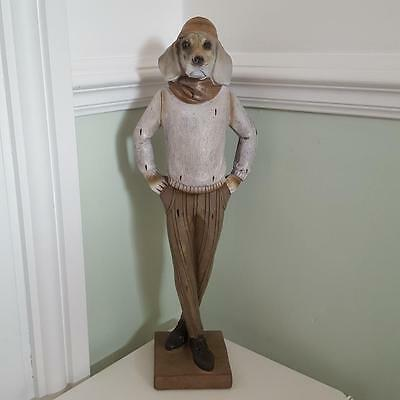 Large Dressed Weimaraner Dog Standing Ornament Great Gift For A Dog Lover