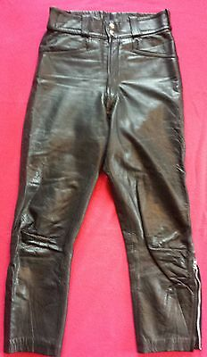 Very nice 70's black lewis leathers jeans