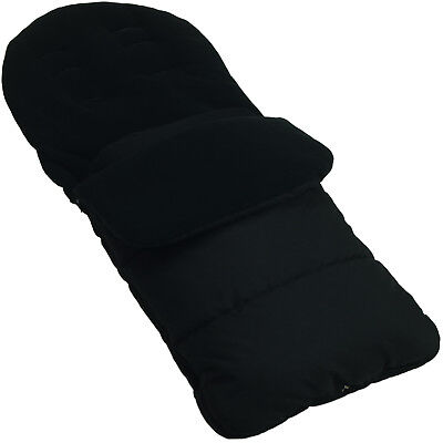 Footmuff / Cosy Toes Compatible with Jane Muum Pushchair Black Jack