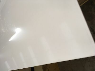 3mm White Acrylic Capped Plastic Sheet ABS 1000mm x 600mm panels