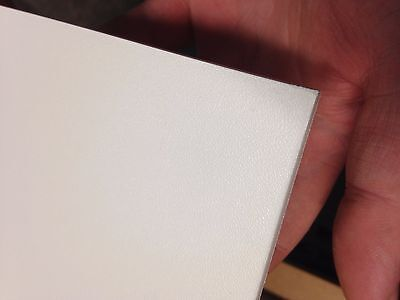 3mm White Pinseal Plastic Sheet ABS 1000mm x 600mm panels