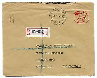 BELGIUM = 5 Commercial Covers with various cancels, stamps. Mixed condition.