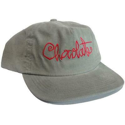 Chocolate Skateboards Script Cord Snapback Hat Grey