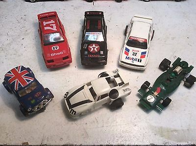 6x Vintage Slot cars, Scalextric non runner