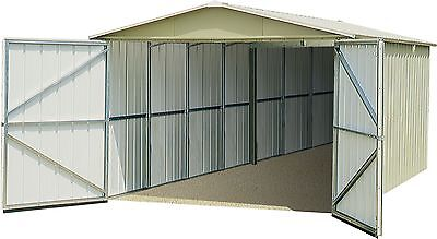 Yardmaster Metal Maintenance Free Garden Garage Shed - 3 x 5m