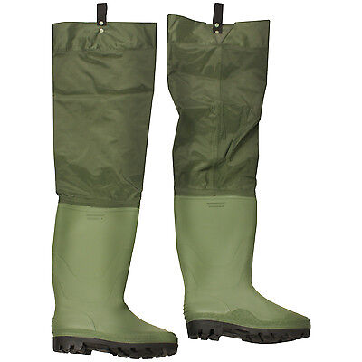 Boot Size 10 Nylon/Pvc Waterproof Hip/Thigh Waders Fly Fishing