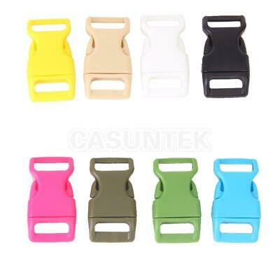 """10Pcs 5/8"""" Plastic Side Release Buckles Clips Craft for Webbing Quick Release"""