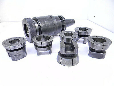 "Lot ""Tt"" Cma45 Tension & Compression Holder With 6 Extended Range Tap Collets"