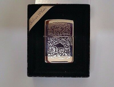 Zippo Lighter Silver Plated 1995 Double Side Turkish Design Camel Rare Mint