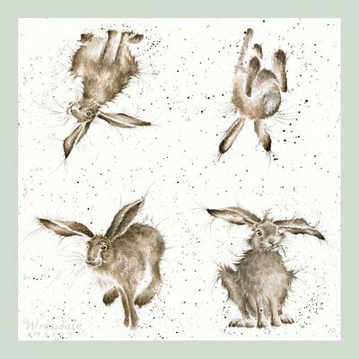 """Wrendale Design Pack of 20 """"Hare Brained"""" Hare 3 ply Paper Napkins"""