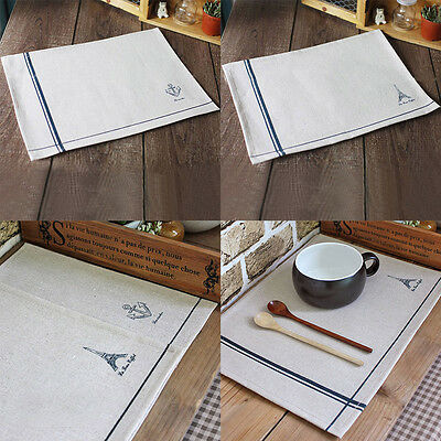 Cotton Linen Cloth Dinner Table Placemat Heat Insulation Mat Pad Coaster Cushion
