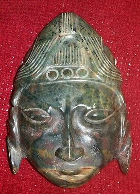 Carved Asian Head - Hard Stone - Possibly Old - Finely Done