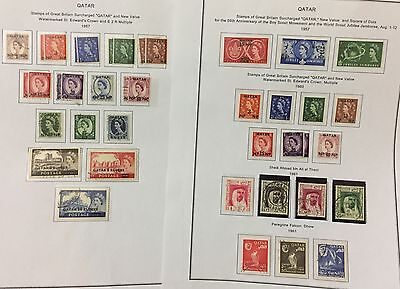Qatar Stamps Of Great Britain Optd 1957/60+1961 Issues Qatar 40V. Rare Spl