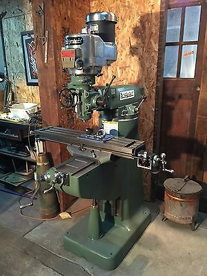 "2 HP Bridgeport Vertical Milling Machine 9"" x 42"""