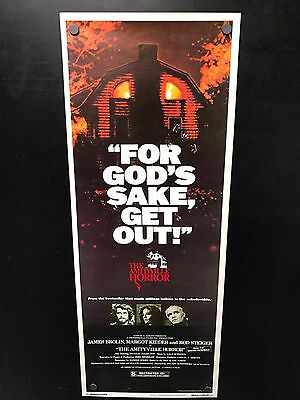 Original 1979 THE AMITYVILLE HORROR Insert 14 X 36 Movie Poster HORROR CLASSIC!
