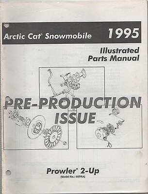 1995 Arctic Cat Snowmobile Prowler 2-Up  Pre-Production Parts Manual