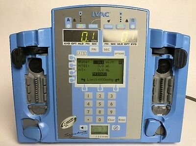 Alaris SE 7230 IPX1 Dual Channel IV Infusion Pump Tested Guaranteed Ver. 4.54