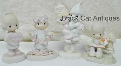 Precious Moments LOT OF 4  VALENTINE themed FIGURINES