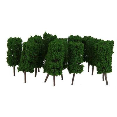 50pcs Model Cylinder Shapes Trees Layout Train Railway Diorama Scenery 1:200