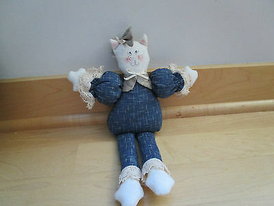 CAT DECORATION, country cat decoration,small cat stuffed animal, cat knick knack