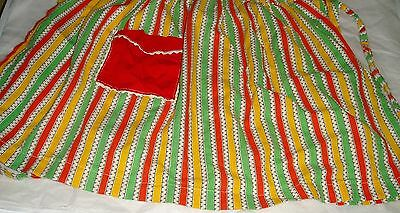vintage half apron one size with tie backs