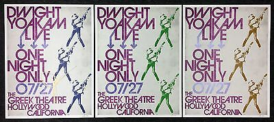 Dwight Yoakam Lithograph Poster Set of 3!!! AUTOGRAPHED!!! RARE!!!