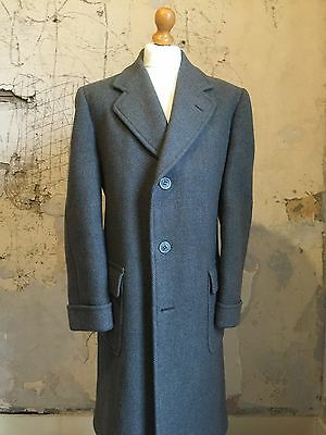 Vintage Chester Barrie Long 1960's Tweed Overcoat  Size 42 44