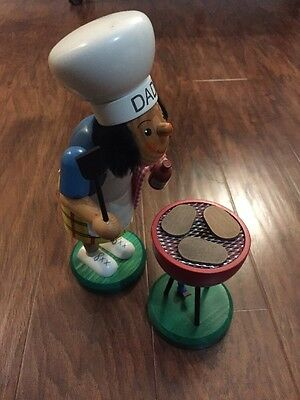 """German incense smoker Dad With Grill , 11"""" TALL With 5"""" Tall Grill"""