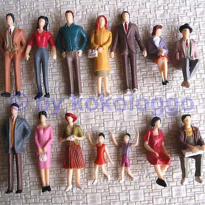 F43 1 gauge Figurines 14 Pieces standing + sitting 1:32 also for Carrera 132