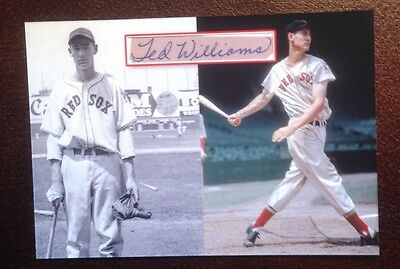 Ted Williams vintage autographed 3x5 card Red Sox HOF signed Mint Rare 1/1