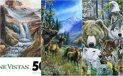 Leapyear's  North America's Endangered Puzzle 1000 pc New Bear, Wolf, Eagle, Cat