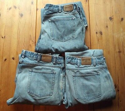 3 pairs Duluth Trading Co Mens size 40 x 32 stone washed blue jeans