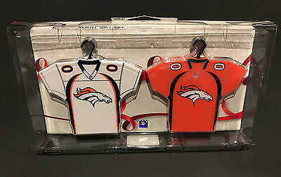 Denver Broncos - Two Pack Christmas Ornament Home & Away Jersey Gift Set New NFL