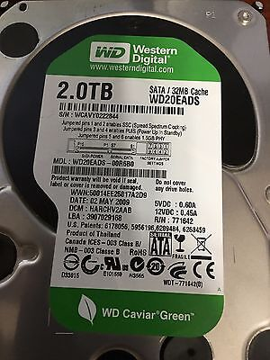 LOT OF 6 Western Digital 2TB WD20EADS - SATA HARD DRIVE FOR SALE - 32MB Cache