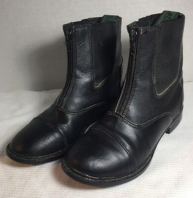 Millstone Synthetic Paddock Boots - Black - Kids 2 - Used